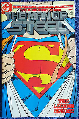The Man of Steel #1 - Collector's Edition - First Byrne Superman - High Grade!