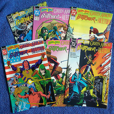 The Brave and the Bold #1-#6 (1991) Green Arrow! Question! Butcher! High Grade!