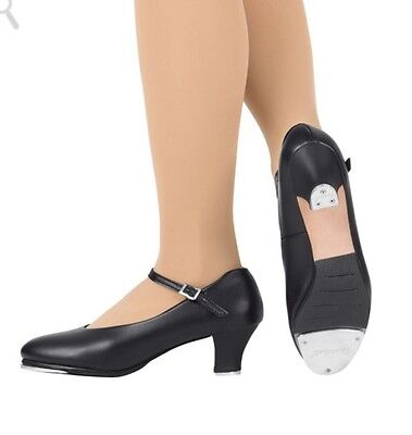 """Theatricals #HT36-37, 1.5"""" Heel Character Tap Dance Shoes, Womens, Black & Tan"""