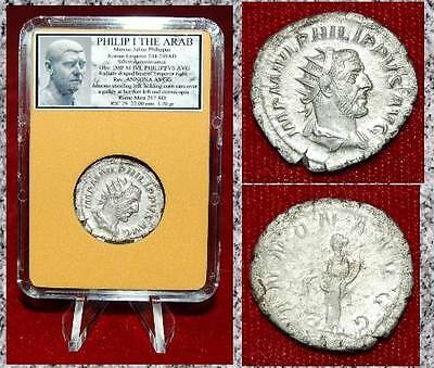 ANCIENT COIN Philip I The Arab Silver Antoninianus Annona On Reverse Nice coin!-