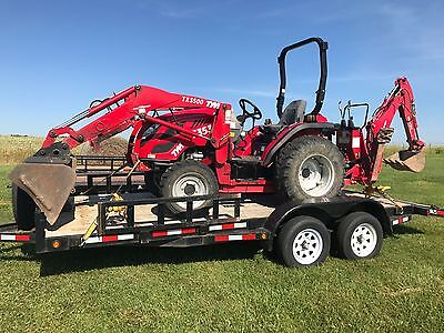 2014 4x4 Diesel TYM 35HP Tractor with front loader and backhoe with 600 hours