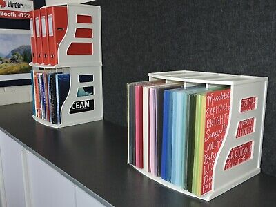 Scrapbook Paper Rack & Cardstock Holder,Ring Binder Stand,Storage Organiser Box