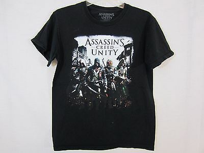 """Assassin's Creed Unity"" Official Graphic T-shirt Black Short Sleeve Size Large"