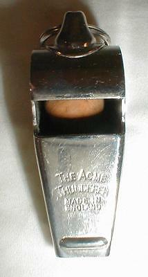 The Acme Thunderer Whistle Vintage Made In England Cork Ball