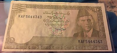1981-82 Pakistan 10 Rupees State Bank Note ~ High Grade       #240