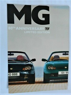 Mg Tf 80Th Anniversary  Limited Edition  Rare Brochure 2004