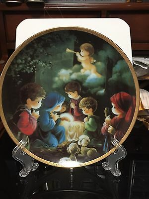 "Precious Moments  Bible Story Collection Plate ""come Let Us Adore Him"""