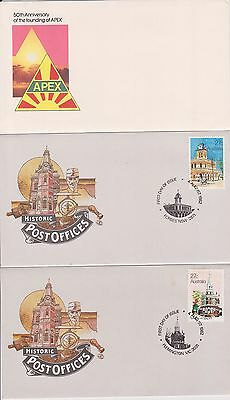(K38-4) 1980-3 AU mix of 27 FDC & PSE mixed condition (some toning) (4D)