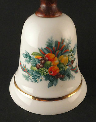 Avon Collectibles Bell 1985 Porcelain Thanksgiving Christmas EUC