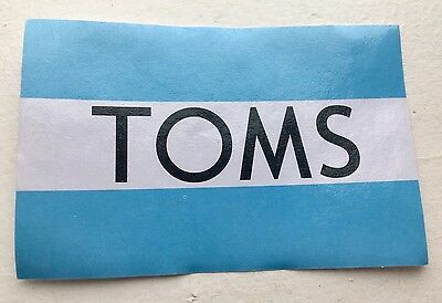 TOMS Shoes Sticker Brand New