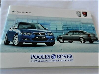 Rover 45 all models  2005 UK Brochure mint allways stored- collectable