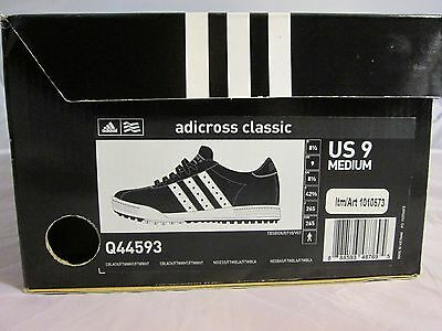 Adidas Adicross Classic Men's Golf Shoes Size 9 Sneakers Black & White New