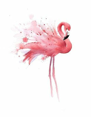 Beautiful Flamingos Watercolour Painting Canvas home wall art choose your size