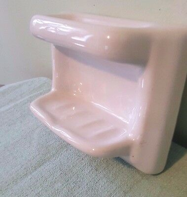 """Vintage Ceramic Soap Dish Tile In, Architectural Salvage 6-1/2 x 4-7/8 x 2-3/4"""""""