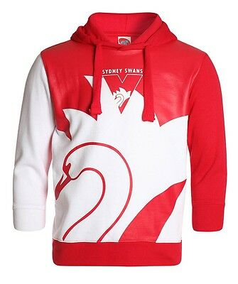 AFL Sydney Swans Kids Youth Supporter Pullover Hoodie Hoody, sizes 6-14