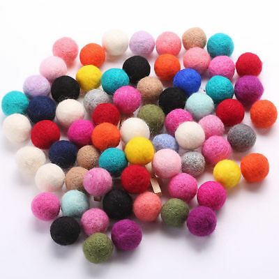 100% Wool 3cm Felt Balls Assort Color For Handmade DIY Accessory Good Quality