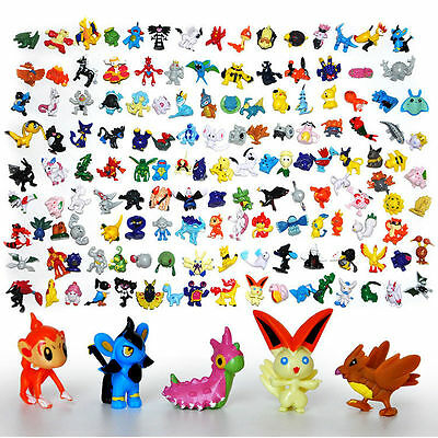 24-144Pcs Mini 2-3cm Pokemon Monsters Random Action Figure Plastic Toys Set