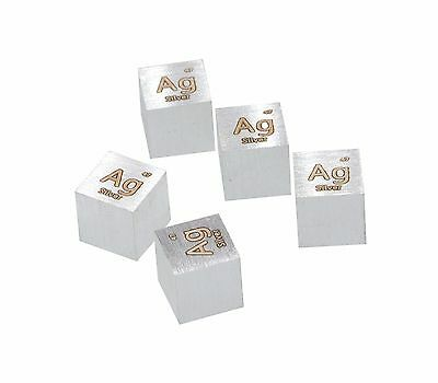 Silver Metal 10mm Density Cube 99.99% Pure for Element Collection