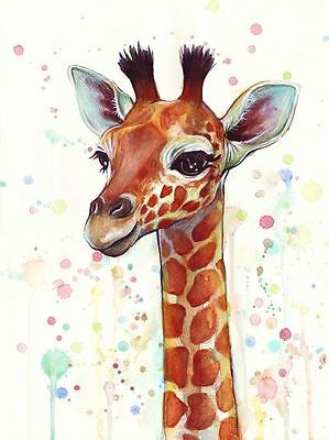 Beautiful Giraffe Watercolour Painting Canvas home wall art choose your size
