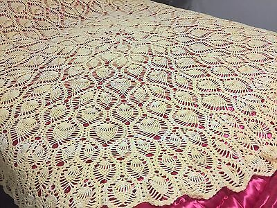Hand Crocheted Bed Cover Vintage
