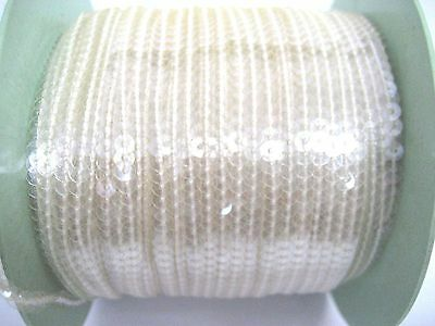 Clear 4mm Strip Sequin Trim for Dance Costumes 10 meters, free int'l shipping