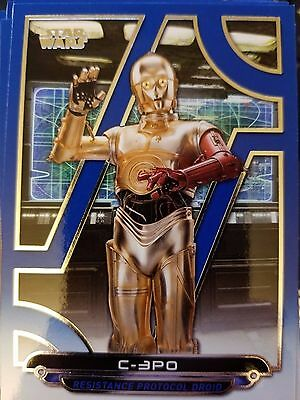 2017 Star Wars Galactic Files Reborn TFA-12 C-3PO Resistance Protocol Droid BLUE