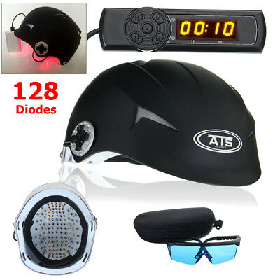 128 Diodes LLLT Laser Hair Loss Regrowth Cap Hair Treatment Therapy Helmet+Timer