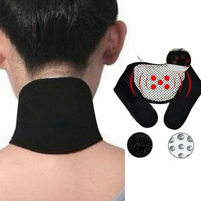 Magnetic Neck Massager Spontaneous Neck Safe Self Heating Headache Therapy Belt