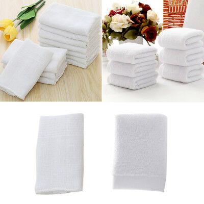 Super Absorbent Soft Durable White Cotton Bath Towel Hand Face Washcloths Towels