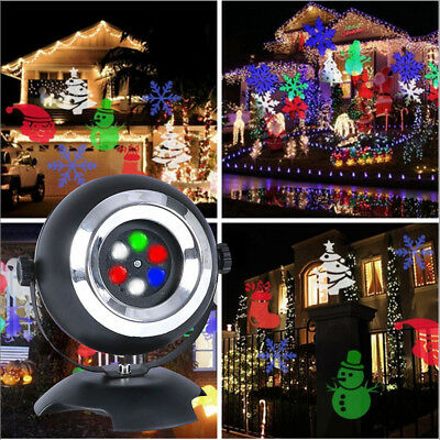 6 LED Laser Light Projection Landscape Lamp Stage Christmas Garden Party Outdoor