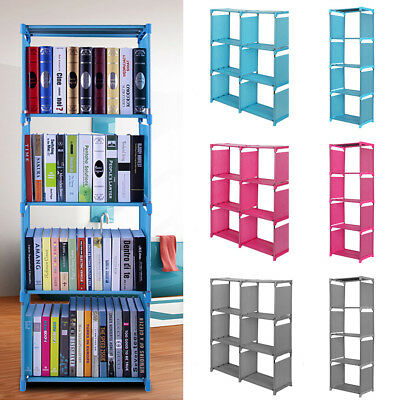 3,4 Tiers Bookshelf Bookcase Home Shelves Bedroom Storage Solution Display Unit