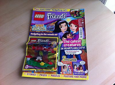 LEGO Friends Magazine Issue 18 from 2015 - NEW & UNUSED - Free Toy = Hedgehog