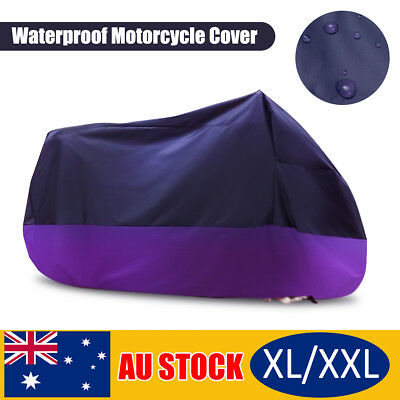 AU XL/XXL Waterproof Outdoor Motorcycle Cruiser Scooter Motor Bike Cover