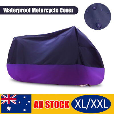 AU XL-XXXL Waterproof Outdoor Motorcycle Cruiser Scooter Motor Bike Cover