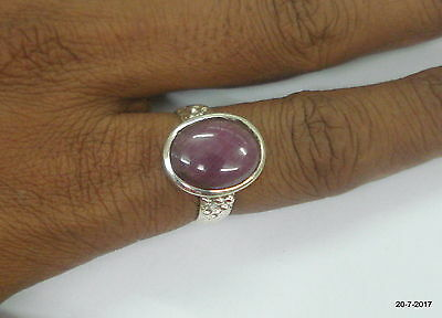 sterling silver ring ruby colour gemstone ring cocktail ring handmade