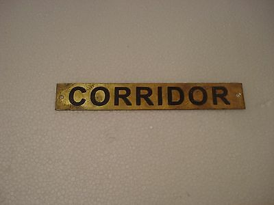 CORRIDOR  – Marine BRASS Door Sign -  Boat/Nautical - 7 x 1 Inches (143)