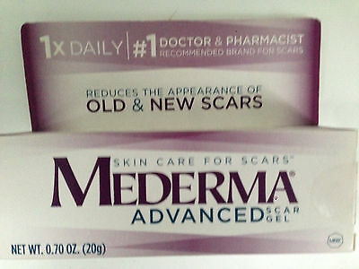 MEDERMA ADVANCED SCAR GEL 0.7 oz  No. 1 Dr. Recommended For Scars FAST FREE POST
