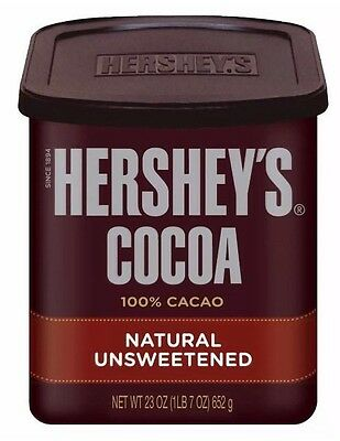 Hershey's Cocoa Powder 652g Tub Natural Unsweetened COCOA US Make *Free Postage*