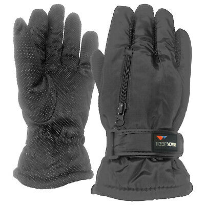 Mens Winter Warm Outdoor Waterproof Padded Fleece Lined Ski Work Action Gloves