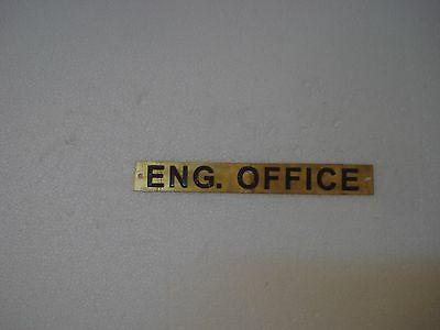 ENG.OFFICE – Marine BRASS Door Sign -  Boat/Nautical - 8 x 1 Inches (183)