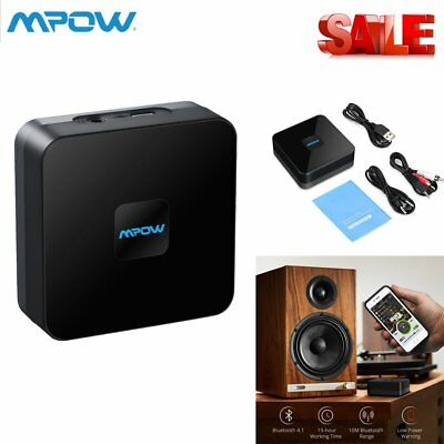 Mpow Wireless Bluetooth Receiver Stereo Audio Adapter 3.5mm Music RCA Home New