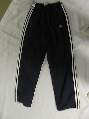 Adidas Navy With White Stripe Youth Large Athletic Pants RN#88387 CA#40312