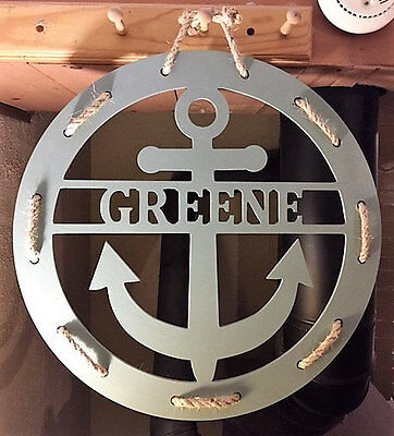"""Wood Wooden DIY - 22"""" Unfinished Personalized Anchor Monogram"""
