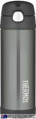 Thermos Funtainer Drink Bottle 470ml CHARCOAL New