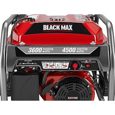 Black Max 3,600-Watt Portable Gas Generator - BM903600