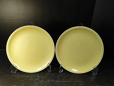 """TWO Paden City Pottery Greenbriar Lunch Plates 9 1/4"""" Green"""