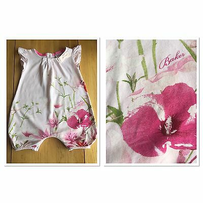 Baker by Ted Baker Baby Girls Floral Romper Suit Size 0-3 Months