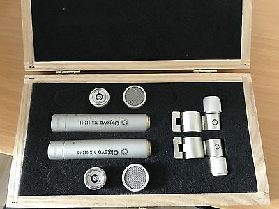 Oktava Mk 012-01 Stereo Matched Pair Silver, Imacculate condition.