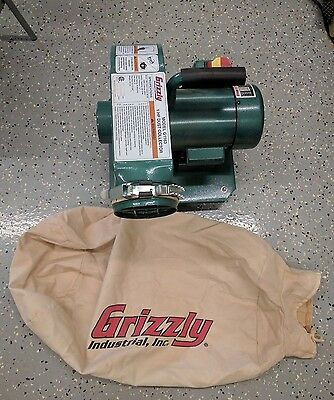 Used G1163 Grizzly 1 HP Wall Hanging Dust Collector