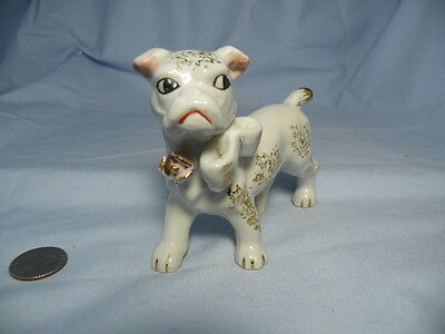 Vintage French Bulldog Boxer  Boston Staffordshire Terrier Figurine